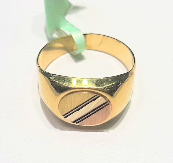 Anillo De Sello Oval Con Diamantado Oro 10 K + Obsequio
