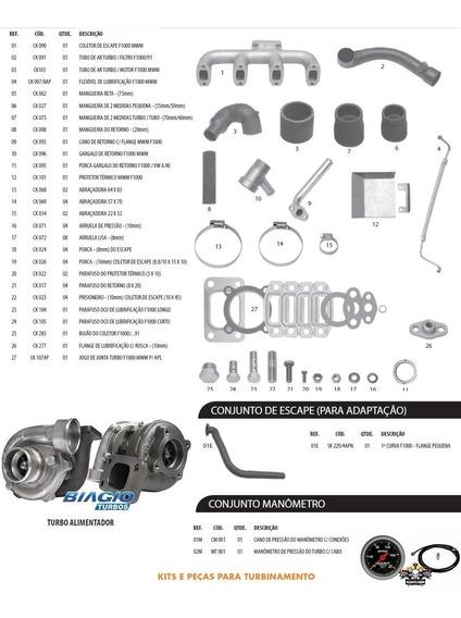 Kit Turbo F1000 F4000 Até 92 Motor Mwm 229-4 225-4 226-4