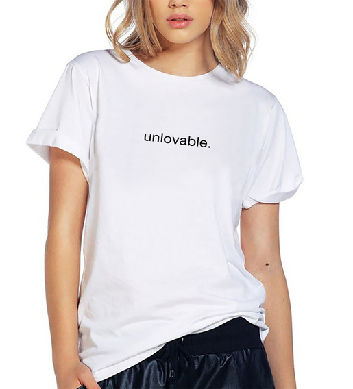 Blusa Playera Camiseta Dama Unlovable Love Elite #540