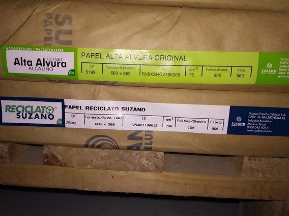 Papel Offset Alto Alvura Alcalino Suzano 75gr 25 Folhas