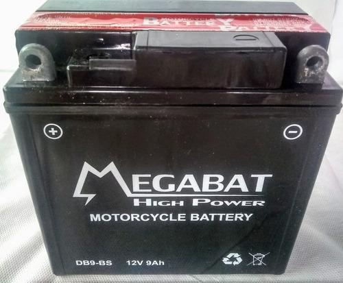 Imagen 1 de 1 de Batería De Moto Yb9 Bs Megabat 12v 9ah