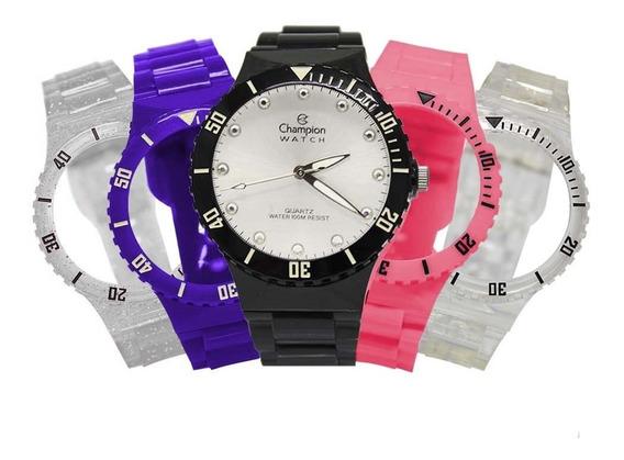 Relógio Feminino Champion Troca Pulseiras Cp38086r / 77628