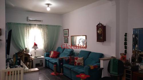 Casa Com 2 Dormitórios À Venda, 115 M² Por R$ 540.000,00 - Embaré - Santos/sp - Ca0035
