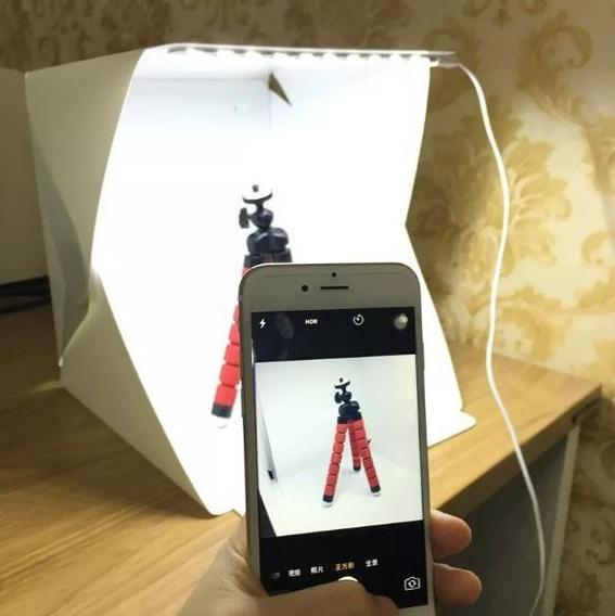 Mini Estúdio Fotográfico Portátil Iluminação Led Embutida