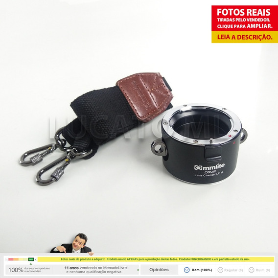 Porta Lentes 2x1 Alça Tiracolo P/ Lente Nikon + Frete Grátis