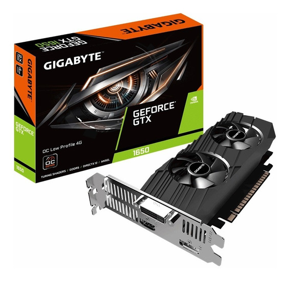 Placa Video Geforce Gtx 1650 4gb Gigabyte Lp Oc Mexx 2