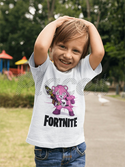 Remera Cuddle Bear Osito Rosa Fortnite Sublimado
