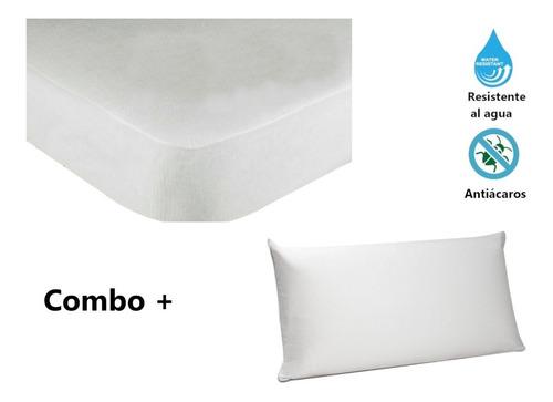 Protector Colchón Sencillo Impermeable 1.00 + 1 Funda