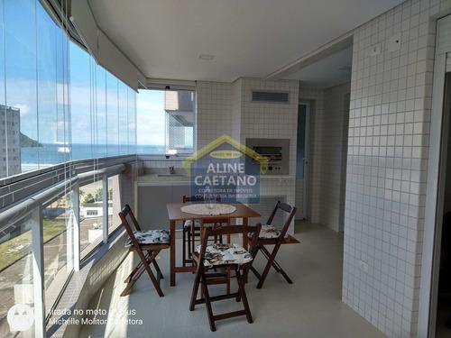 Imagem 1 de 30 de Apartamento Maravilhoso 3 Dorms , Frente Mar,mobiliado, Forte.. - Vant5092