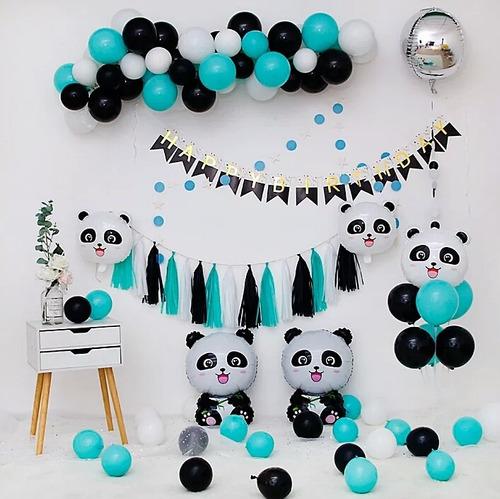 Kit Globos Decoración Oso Panda Fiesta Cumpleaños X16 Inv
