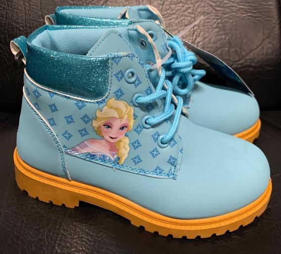 Frozen Botas Calzado Infantil Borcego Cuero Pu Glitter T30