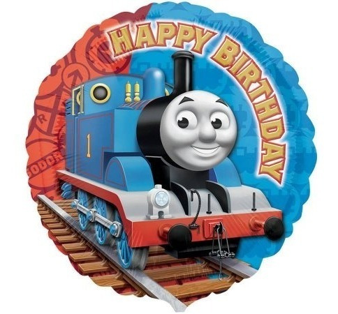 4 Globos Metalico Tren Tomas Thomas Train Fiesta Cumpleaños
