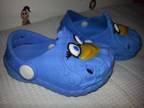 Sandália Infantil Galinha Pintadinha Azul Babuche Yuupiii
