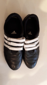 Adidas 8 Blancas Zapatillas 5 Velcro T Cuero Y Negra De Con 6ybfgY7v