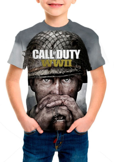 Camiseta Infantil Call Of Duty Ww2 - M01