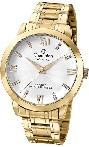 Relógio Feminino Dourado Champion Cn29169h