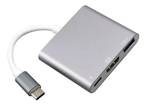 Imagem 1 de 3 de Adaptador Tipo C Hdmi Dex Usb S8 S9 S10 Note 8 9 10 Macbook