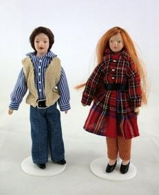 Vanity Fair Dolls House Miniatura Pareja 2 Personas Hombre Y