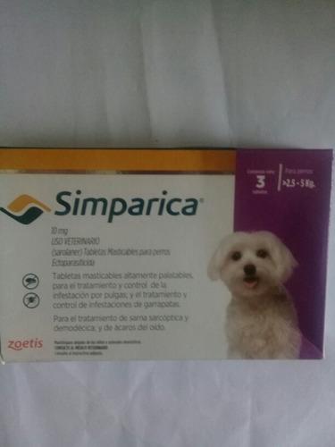 Eliminas Garrapatas Y Pulgas Perros 3 Tabletas De Simparica