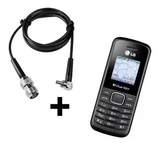 Celular Lg-b220 + Cabo Adaptador Antena Rural Desbloqueado