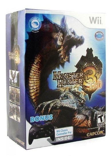 Monster Hunter Tri Bundle Edition Wii Mídia Física