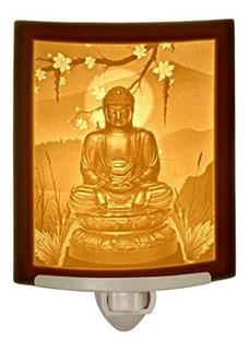 Buda curved Porcelana Lithophane Luz Nocturna