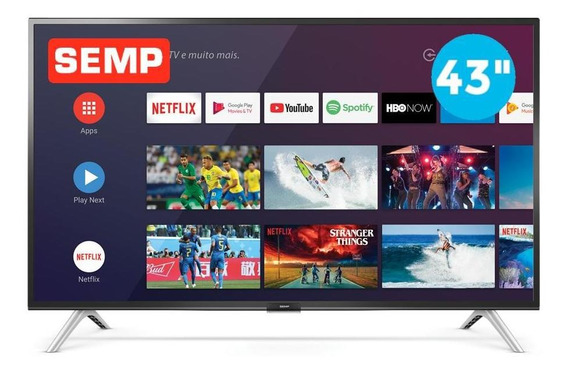 Smart Tv Led Fhd 43 Semp 43s5300 Android 2 Hdmi 1 Usb