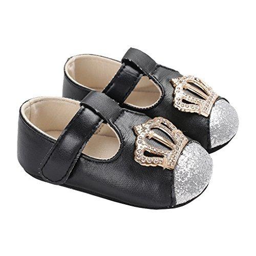 a27d1c4c143a Lakiolins Bebe Nina Brillante Corona Brillante Toe Zapatos D