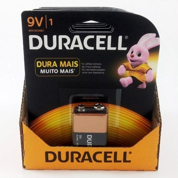 Bateria Duracell 9v - Kit C/05 Unidades Validade 2024