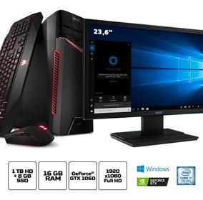 Kit: Pc Gamer Acer Br13 Core I7 16gb + Monitor Acer 24