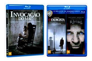 Blu Ray Invocação Do Mal + O Exorcista + O Ritual - 3 Filmes