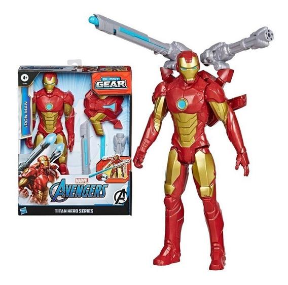 Iroman Muñeco Avengers Blast Gear 30cm Hasbro