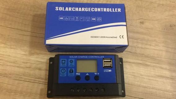 Controlador De Carga Solar 10a 12v/24v