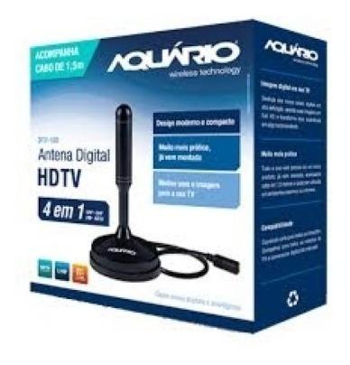 Antena Digital Dtv 100 Aquário Cabo De 1,5 Metros