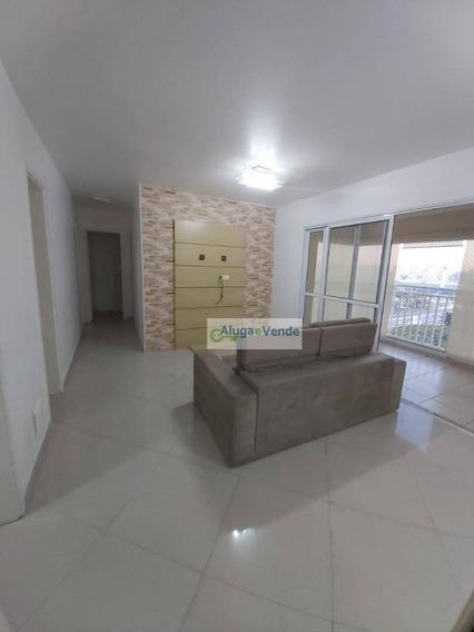 Apartamento Com 3 Dormitórios, 1 Suíte E 2 Vagas De Garagem Para Alugar, 86 M² Por R$ 1.800/mês - Vila Leonor - Guarulhos/sp - Ap0215
