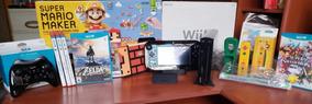 Nintendo Wii U Edición Limitada Super Mario Maker + 6j + 2c