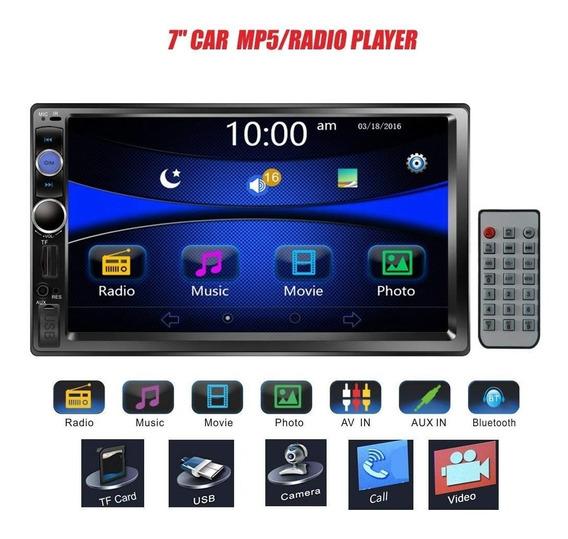 Central Multimídia Mp5 Bluetooth Fm Tela 7 + Câmera De Ré