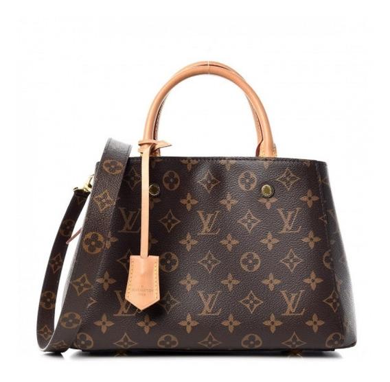 Montaigne Bb Monogram Couro Legítimo Premium Top Louis Vuitton Com Código Série Acompanha Dust Bag Envio Imediato