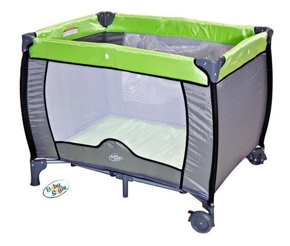 Berço Cercado Desmontável Compacto Verde Baby Style