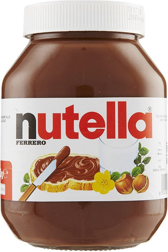 Imagen 1 de 6 de Crema Nutella De Avellanas Italiana La Original De 950 G