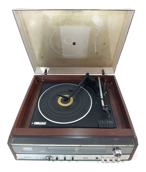 Radio Toca Discos Pick-up Philips 853 Vintage Retro Raro Dj