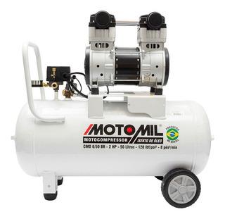 Compressor De Ar Silêncio Odontológico 8pés Cmo-8/50 Motomil