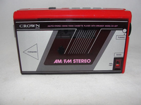 Antigo Radio Am Fm E Toca Fitas Crown Japones Década 70