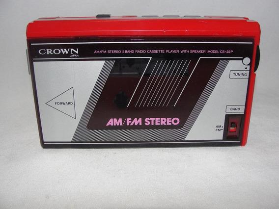 Antigo Radio Am Fm E Toca Fitas Crown Japones Década 70