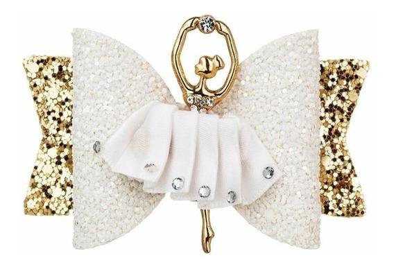 Moños Glitter Para Niña Bailarina