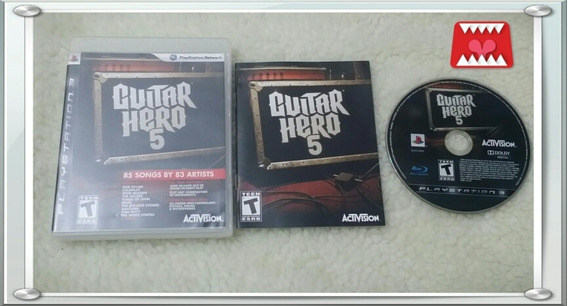 Jogo Guitar Hero 5 Playstation 3 Ps3 Mídia Física