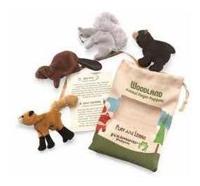 Dedoches, Fantoches De Dedos: Urso, Esquilo, Raposa E Castor