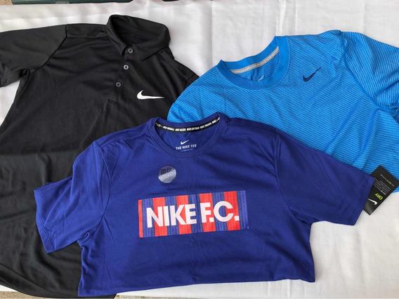Playera Levis Nike Deportiva Cuello Hombre Original