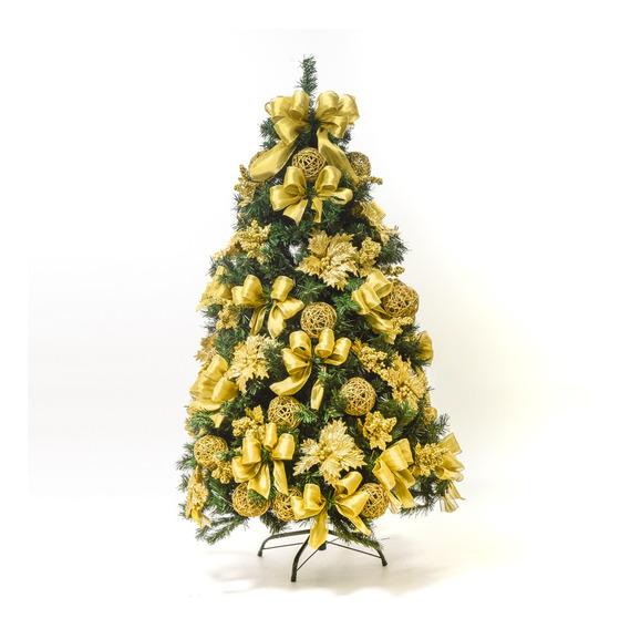 Kit Árvore De Natal Decorada 547 Hastes 1,5m C/58 Enfeites