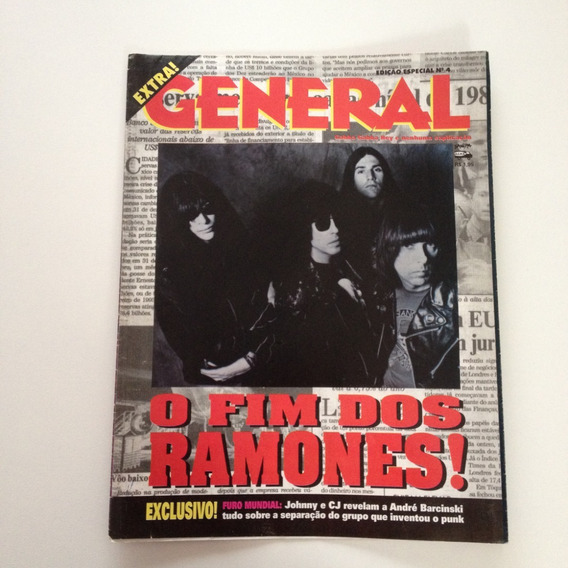 Revista Pôster General O Fim Dos Ramones Cc69